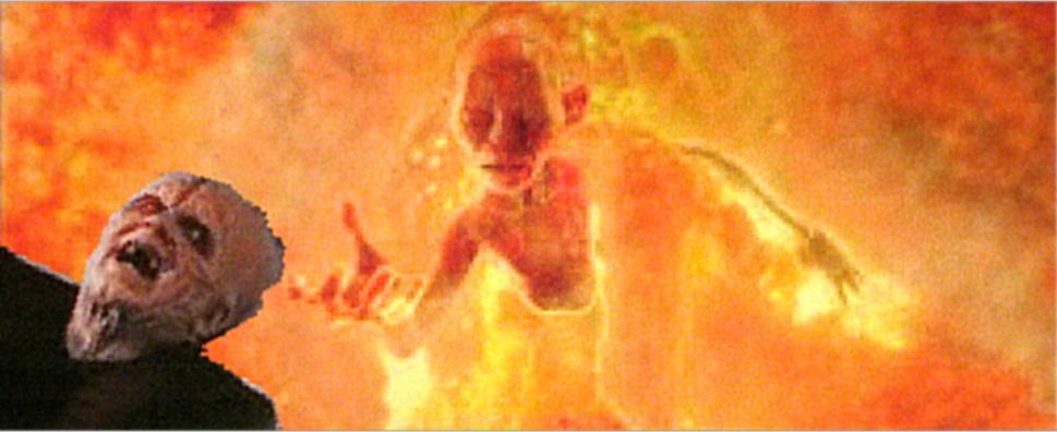 Star Wars vs LotR Deathmatch #13 – (Finale- Finale) | Brad ... Gollum Falling Into Mount Doom