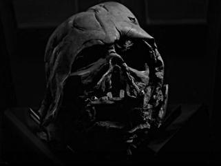 burned vader mask